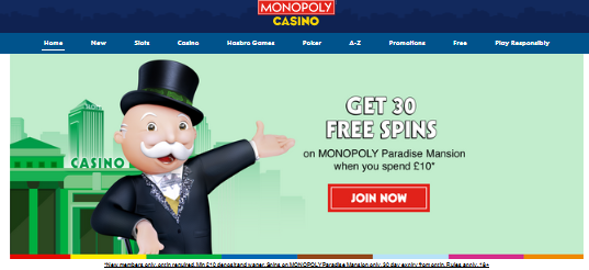 Monopoly Casino - Review, Players Feedback & Free Spins Bonuses