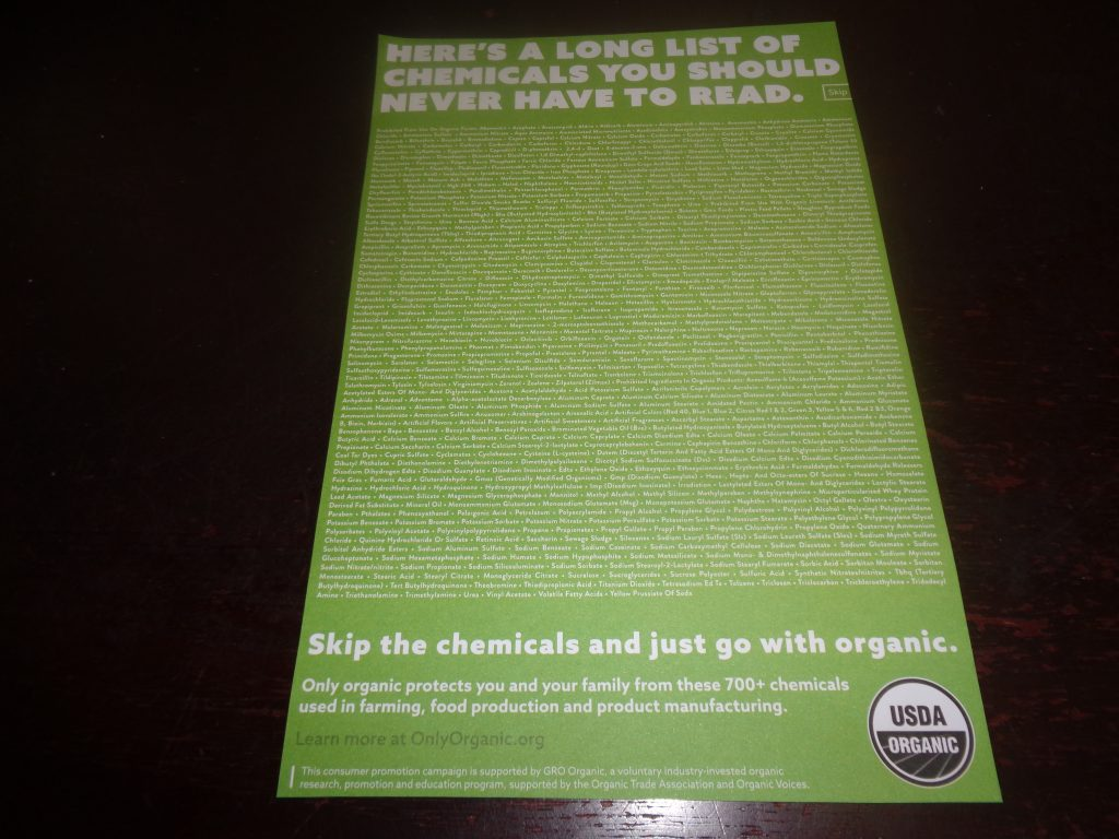 Heres a long list of Chemicals You should never have to read