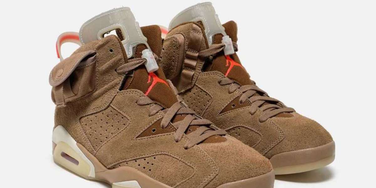 "DH0690-200 Travis Scott x Air Jordan 6 ""British Khaki"" Release Information"