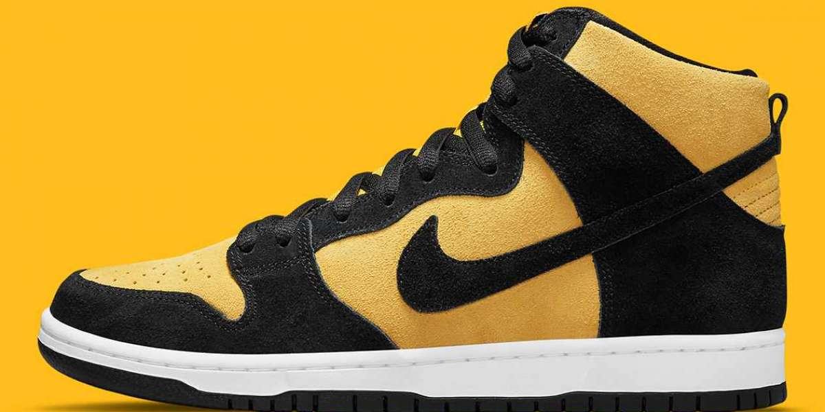 "Nike SB Dunk High ""Reverse Iowa"" Varsity Maize/Black Lifestyle Shoes DB1640-001"