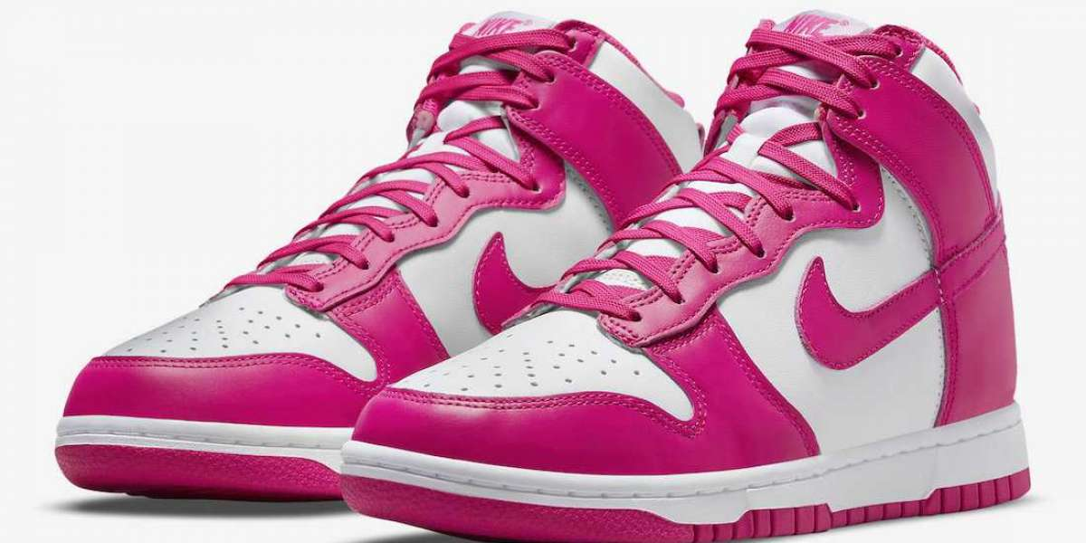 """DD1869-110 Nike Dunk High """"Pink Prime"""" Sneakers For Sale"""